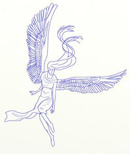 Как нарисовать Ангела поэтапно в 6 шагов 6