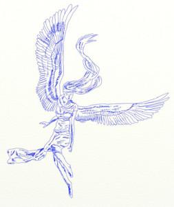 Как нарисовать Ангела поэтапно в 6 шагов 7