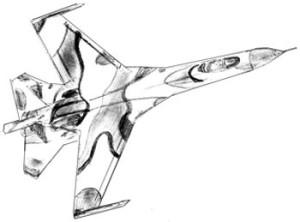Как нарисовать самолет поэтапно в 6 шагов 7