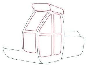 Как нарисовать машины. Экскаватор поэтапно в 11 шагов 3