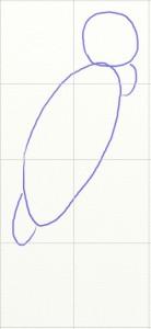 Как нарисовать попугая поэтапно в 5 шагов 2