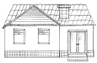 Как нарисовать Дом поэтапно в 5 шагов