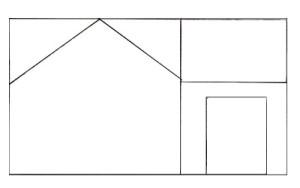 Как нарисовать Дом поэтапно в 5 шагов 3