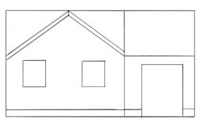 Как нарисовать Дом поэтапно в 5 шагов 4