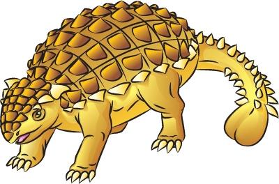 Как нарисовать динозавра Анкилозавр в 8 шагов
