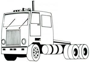 Как нарисовать грузовик поэтапно в 5 шагов. Шаг 5.