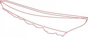Как нарисовать корабль Эсминец поэтапно в 8 шагов. Шаг 1.