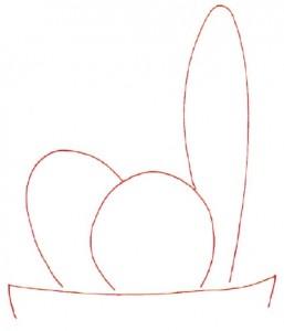 Как нарисовать Кактус поэтапно в 7 шагов. Шаг 1