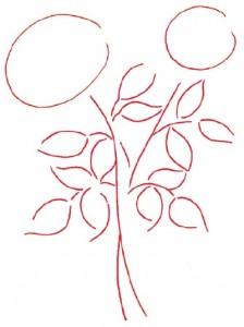 Как нарисовать Розы поэтапно в 5 шагов. Шаг 1