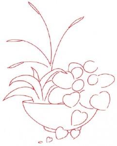 Как нарисовать Цветочную композицию поэтапно в 7 шагов. Шаг 1
