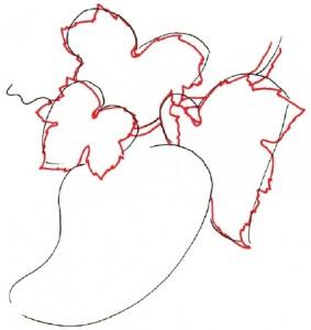 Как нарисовать гроздь винограда поэтапно в 5 шагов. Шаг 2