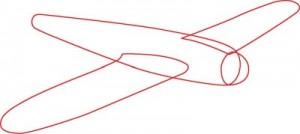Как нарисовать самолет второй мировой войны поэтапно в 7 шагов. Шаг 1