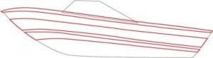 Как нарисовать катер поэтапно в 5 шагов. Шаг 2