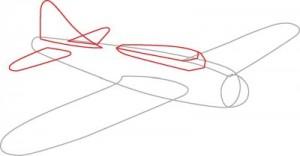 Как нарисовать самолет второй мировой войны поэтапно в 7 шагов. Шаг 2