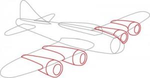 Как нарисовать самолет второй мировой войны поэтапно в 7 шагов. Шаг 3