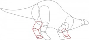 Как нарисовать динозавра Стегозавра поэтапно в 7 шагов. Шаг 4