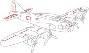 Как нарисовать самолет второй мировой войны поэтапно в 7 шагов. Шаг 6