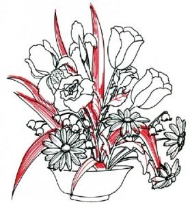 Как нарисовать Цветочную Композицию из полевых цветов поэтапно в 7 шагов. Шаг 6