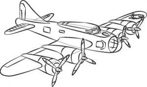 Как нарисовать самолет второй мировой войны поэтапно в 7 шагов. Шаг 7