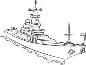 Как нарисовать корабль Эсминец поэтапно в 8 шагов. Шаг 8.