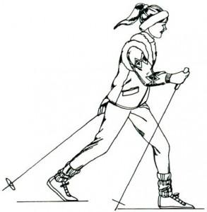 Как нарисовать Лыжника поэтапно в 5 шагов 1