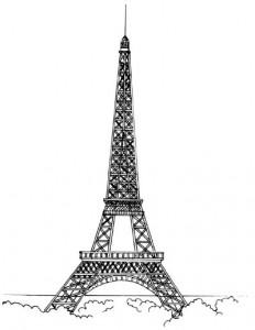 Как нарисовать Эйфелеву башню поэтапно в 5 шагов 1