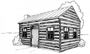Как нарисовать Деревенский Домик поэтапно в 4 шага 1