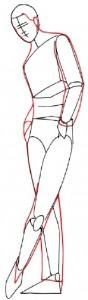 Как нарисовать Мужчину в костюме поэтапно в 5 шагов 2