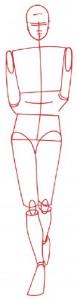 Как нарисовать Девушку в юбке и пиджаке поэтапно в 5 шагов. Шаг 1.
