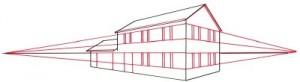 Как нарисовать кирпичный дом поэтапно в 5 шагов. Картинка 3.