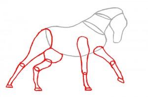Как нарисовать Лошадь поэтапно в 4 шага 3