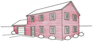 Как нарисовать кирпичный дом поэтапно в 5 шагов. Картинка 5.