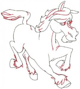 Как нарисовать Пони поэтапно в 5 шагов 5