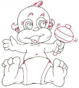 Как нарисовать ребенка поэтапно в 5 шагов 5