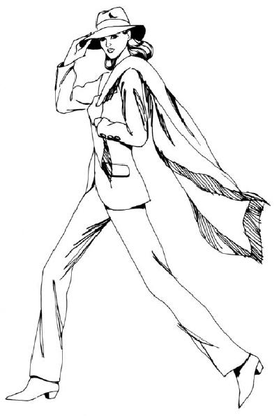 Как нарисовать Женщину в брюках поэтапно в 5 шагов
