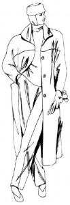 Как нарисовать Женщину в пальто поэтапно в 5 шагов 1