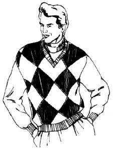 Как нарисовать Мужчину в свитере поэтапно в 5 шагов 1