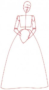 Как нарисовать Невесту поэтапно в 5 шагов 2