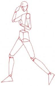 Как нарисовать Женщину в брюках поэтапно в 5 шагов 2