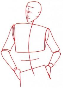Как нарисовать Мужчину в свитере поэтапно в 5 шагов 2