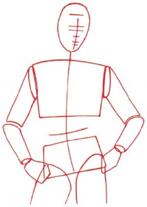 Как нарисовать Мужчину в куртке поэтапно в 5 шагов 2