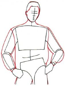Как нарисовать Мужчину в куртке поэтапно в 5 шагов 3