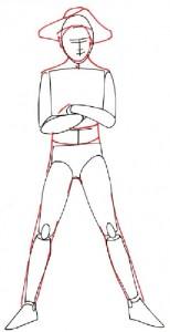 Как нарисовать Мальчика пирата поэтапно в 5 шагов 3