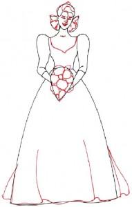 Как нарисовать Невесту поэтапно в 5 шагов 4