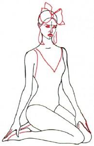 Как нарисовать Девушку в купальнике поэтапно в 5 шагов 4