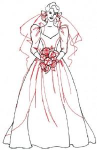 Как нарисовать Невесту поэтапно в 5 шагов 5