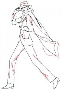 Как нарисовать Женщину в брюках поэтапно в 5 шагов 5