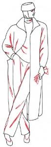 Как нарисовать Женщину в пальто поэтапно в 5 шагов 5