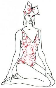 Как нарисовать Девушку в купальнике поэтапно в 5 шагов 5