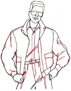 Как нарисовать Мужчину в куртке поэтапно в 5 шагов 5